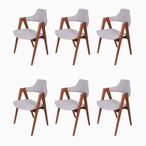 Chaises de Salle à Manger Compass par Kai Kristiansen pour SVA Møbler, 1960s, Set de 6