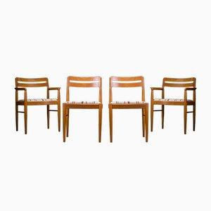 Dänische Mid-Century Esszimmerstühle aus Teak von HW Klein für Bramin, 1970er, 4er Set