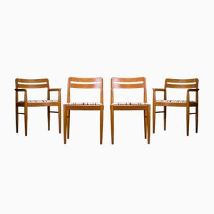 Mid-Century Danish Teak Dining Chairs by H. W. Klein for Bramin, 1970s, Set of 4