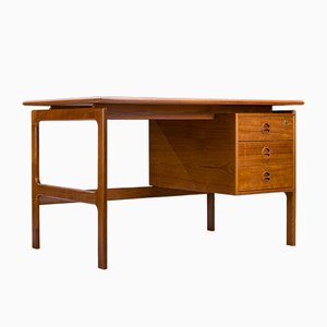 Mid-Century Teak Desk by Arne Vodder, Denmark, 1960s