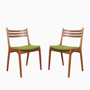 Chaises de Salle à Manger Mid-Century en Teck par Henning Kjærnulf pour Korup Stolefabrik, Danemark, 1960s, Set de 2