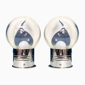 Murano Glas Lampen von Toni Zuccheri für Veart, Italien, 1970er, 2er Set