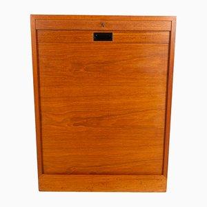 Mueble danés de teca con frente de persiana, años 60