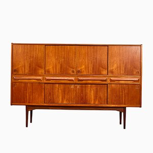 Hohes Teak Sideboard Buffet von Johannes Andersen für Hc Furniture, 1960er