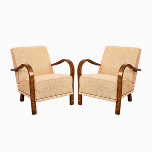 Hungarian Art Deco Style Rumba Armchairs, 1940s, Set of 2