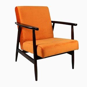 Orangefarbener Sessel, 1970er