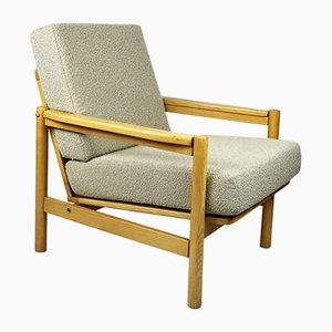 Beige Buckle Armchair, 1970s