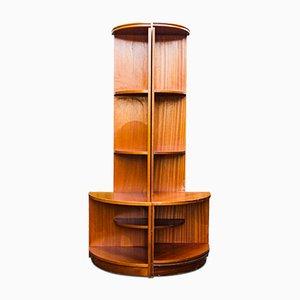 Librerías esquineras de teca de G-Plan, años 60. Juego de 2