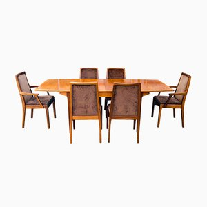 Mid-Century Teak Extendable Dining Table and 6 Chairs from Nathan, Set of 7