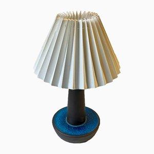Scandinavian Turquoise Table Lamp by Einar Johansen for Søholm, 1960s
