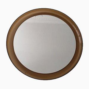 Round Plexiglass Wall Mirror by Makio Hasuike for Guzzini, 1970s
