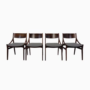 Danish Rosewood Dining Chairs by Vestervig Eriksen, 1960s, Set of 4