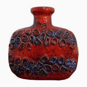 West German Domino Pottery Vase with Relief from Dümler & Breiden, 1970s