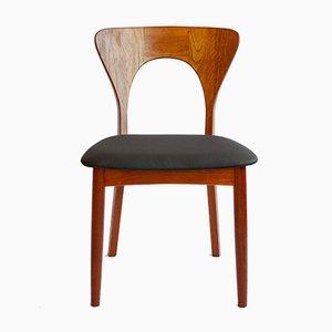 Mid-Century Danish Teak Peter Chairs by Niels Koefoed for Koefoeds Hornslet, Set of 6
