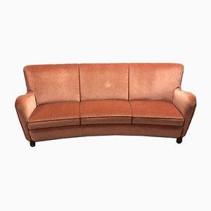 Dänisches Velours Sofa, 1940er