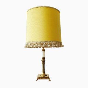 Lampada da tavolo Mid-Century in ottone e onice, anni '50
