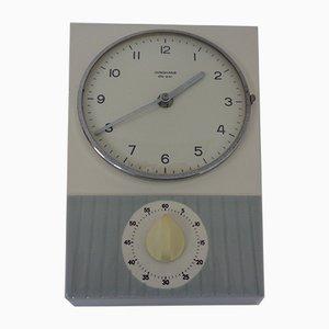 Reloj de pared Ato-Mat de cerámica con temporizador de Junghans, años 50