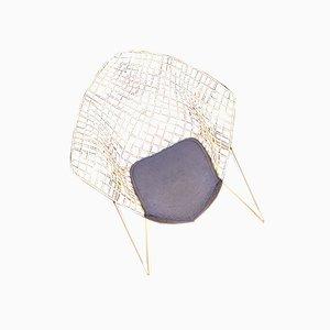 Vintage Diamond 421 Lounge Chair by Harry Bertoia for Knoll Inc. / Knoll International