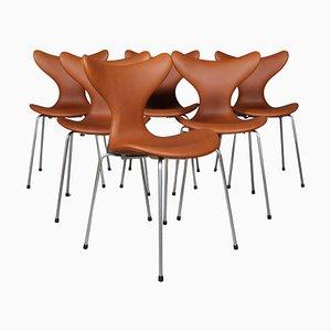 Seagull Esszimmerstühle von Arne Jacobsen für Fritz Hansen, 6er Set