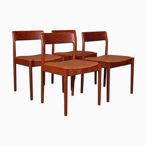Teak Chairs by Johannes Nørgaard, Set of 4