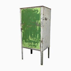 Mobiletto vintage industriale in metallo