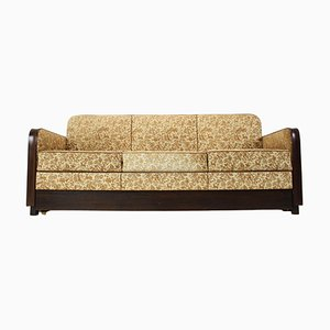 Art Deco Three-Seater Sofa by Jindřich Halabala, 1930s