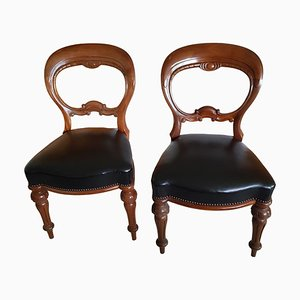 Mahogany Wood Chairs, 19th Century, Set of 2