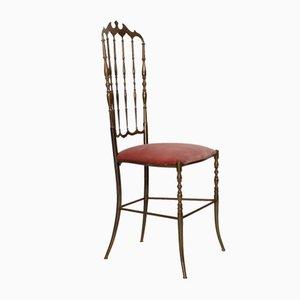 Italienischer Stuhl in Blassrosa von Giuseppe Gaetano Descalzi für Chiavari