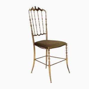 Italian Green Chair by Giuseppe Gaetano Descalzi for Chiavari