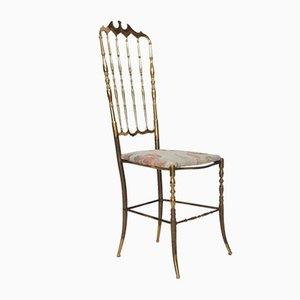 Italienischer Stuhl mit Geblümten Sitzen von Giuseppe Gaetano Descalzi für Chiavari