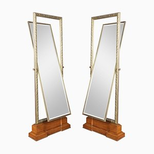 Large Versace Showroom Cheval Mirrors, Set of 2