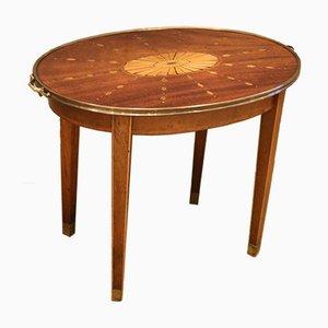 Niedriger Ovaler Tisch mit Intarsien