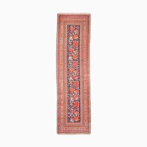 Floraler Dunkelblauer Teppich mit Rand