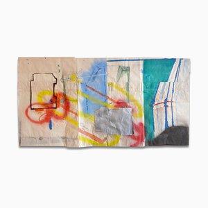 Peter Soriano, Oberkampf 2, 2009, Bombe de Peinture, Crayon, Encre et Aquarelle sur Papier