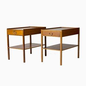 Tables de Chevet en Acajou par Josef Frank, Set de 2