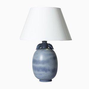 Steingut Tischlampe von Gunnar Nylund