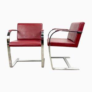Burgundy Chair by Ludwig Mies Van Der Rohe