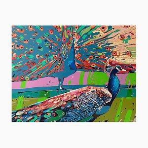 Rafal Gadowski, Peacocks 28, 2021, Öl auf Leinwand