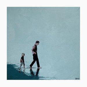 Joanna Woyda, Padre e figlio, 2021, acrilico su tela