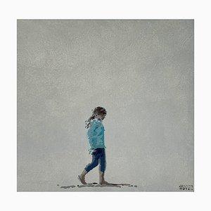 Joanna Woyda, A Walking Girl, 2021, acrílico sobre lienzo