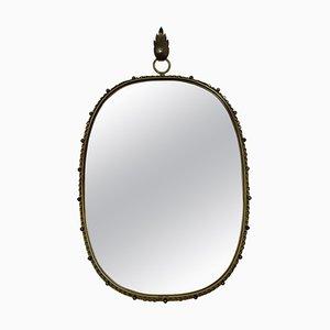 Brass Wall Mirror by Josef Frank for Svensk Tenn, 1950s