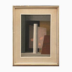 Guido Marussig, Scenic Breaks, siglo XX, pintura al temple sobre cartón