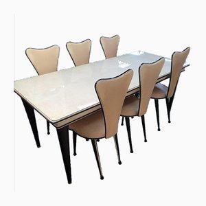 Tisch und Stühle von Umberto Mascagni für Harrods, 1950er, 7er Set