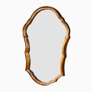 Französischer Vintage Spiegel mit goldenem Rahmen
