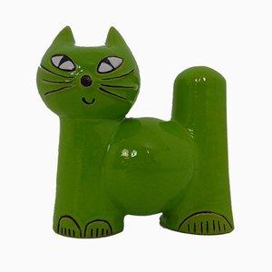 Salvadanaio a forma di gatto in ceramica di Wächtersbach, anni '70