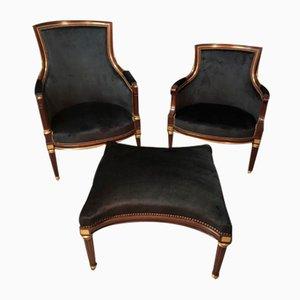Sedie in stile Luigi XVI, set di 3