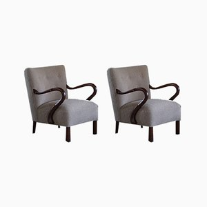 Danish Lounge Chairs by Alfred Christensen, 1940s, Set of 2