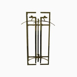 French Brass Wardrobe with Coat Hanger, 1970s