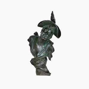 Van Der Straéten, Frau mit Kirschen, 19. Jh., Bronze
