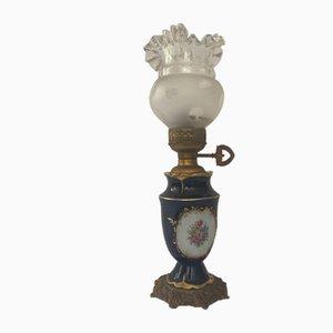 Lampada in porcellana dipinta a mano, Italia, anni '30